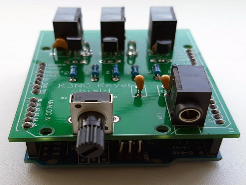 Телеграфный ключ Arduino Shield